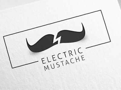 Electric Mustache logo design