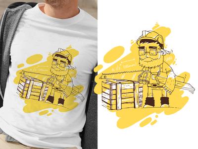 Tshirt illustration worker