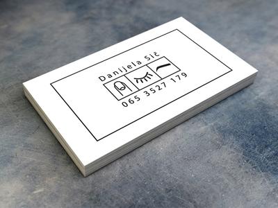 Business card back side