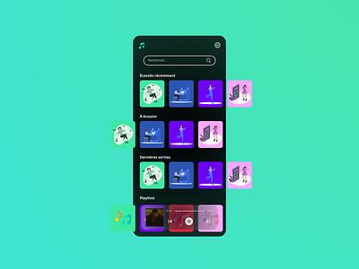 Spotify UI music ux ui spotify app