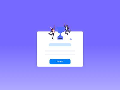 Popup web design google app design illustration web flat uidesign ux ui popup