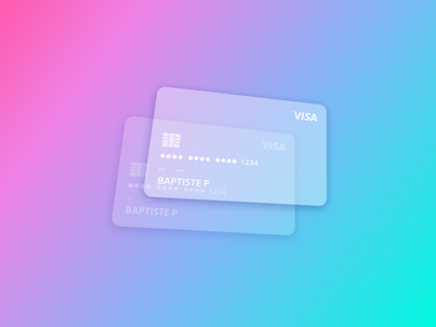 CB Glassmorphism credit card card design payment paiement card vector illustration web design glassmorphism