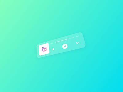 Player Glassmorphism apple music deezer spotify glassmorphism flat uiux dailyui design