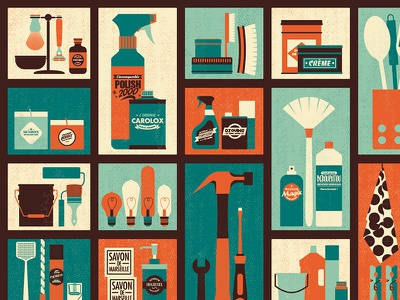 Hardware store covering service hammer texture vintage retro label flat object minimal display covering store