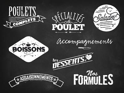 Title restaurant menu label food grunge rust chicken industrial retro typography restaurant menu
