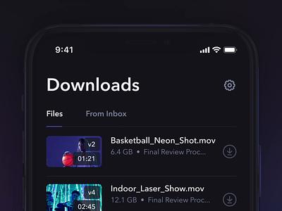 Offline mode review video ios animation download dark offline mobile ux ui app