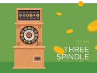 Three Spindle