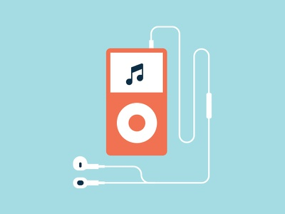 iPod illustration flat vector ipod earpod