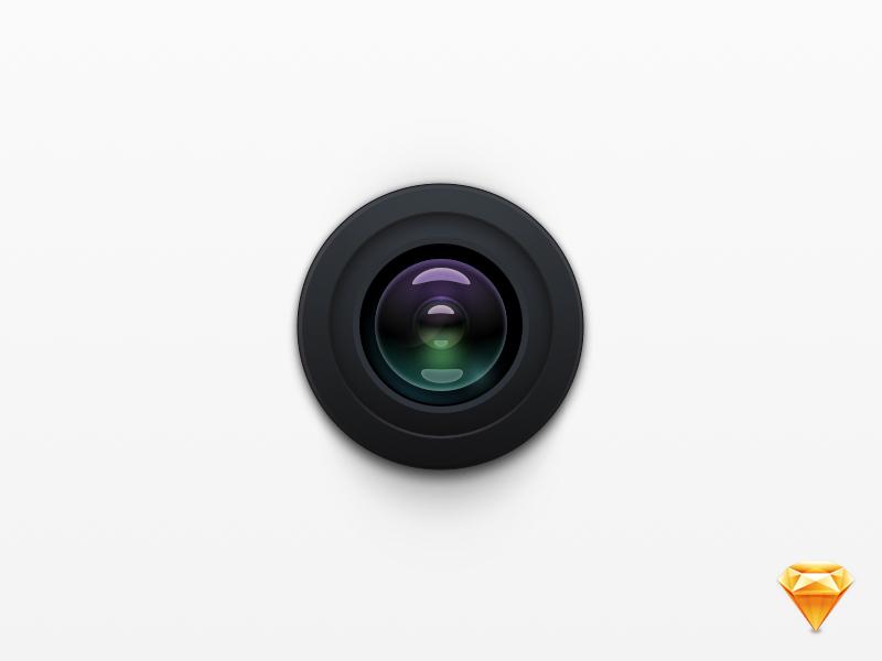 Camera freebie free sketch lens camera icon