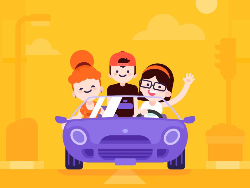 Car Sharing Illustration By Yasir Eryilmaz On Dribbble