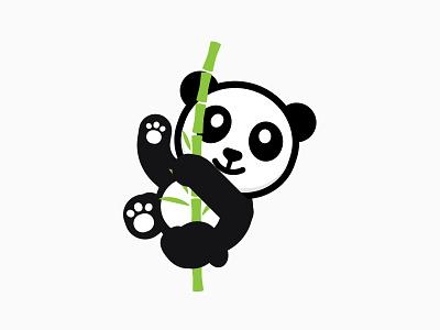 New Panda app reader character logo mascot illustration panda