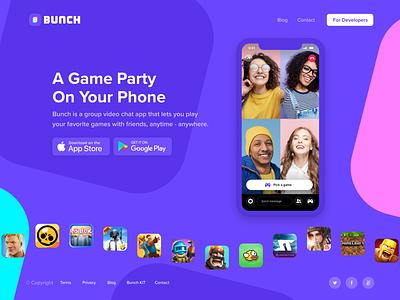 Bunch website chat website app video bunch