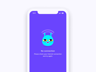 No Network character animation illustration mobile internet connection no network app chat video bunch
