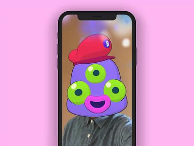 Snapchat AR Filter for Bunch mobile gamer face filter lens filter app chat video bunch