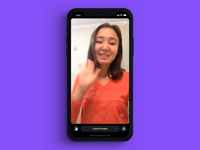 Rize - Fullscreen concept mobile fullscreen ui  ux stream broadcast chat app video