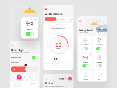 Smart House cochin mumbai design system design systems qatar figma switch smart home power lights knob heater electric appliances debut daily ui chart card design bulb bluetooth calicut