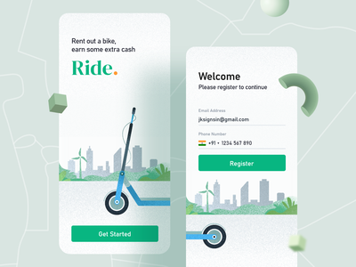 Bike rental app kerala illustrations qatar textures india dailycreativechallenge ride design system vehicle transportation scooter riding system navigation debut daily ui cycling corona bike banglore activity