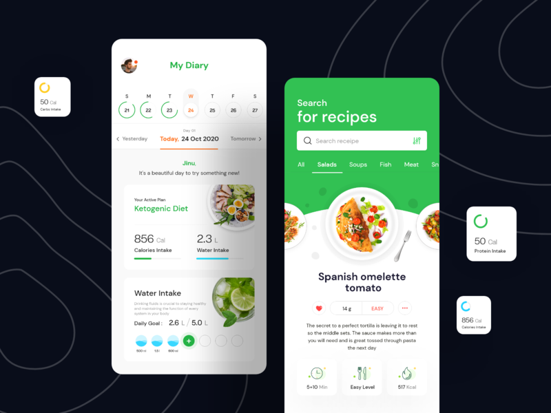 Make a healthy lifestyle creative debut design system visual language workout gym fitness vegetable ux ui recipe mobile meat kitchen ios illustration eat dish diet cooking