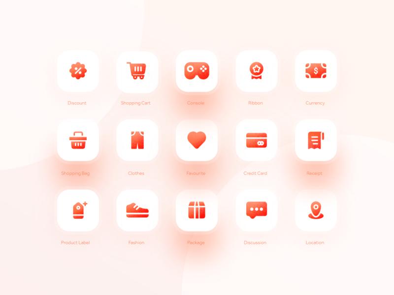 E-commerce icons xd product shopping cart design system logo 2021 branding doha daily ui debut ecommerce vector translucent images illustration iconset icons iconography icon badge