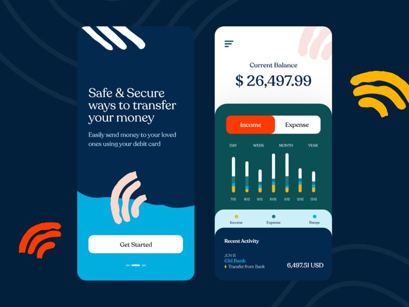Finance app daily ui ux ui saas money mobile app interface interaction illustration finance expense design system design debut dashboard credit card banking bank balance application