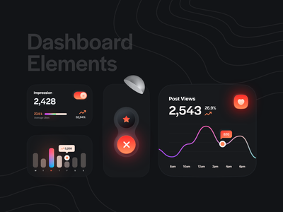 Dashboard elements daily ui ux ui skeuomorph skeumorphism night mode neumorphic mobile iphone ios interface figma debut theme dark card black bigsur banglore app