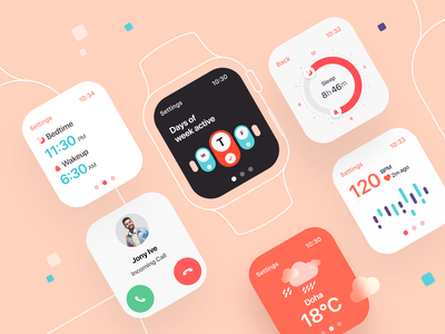 Watch app minimal kerala mumbai india vector bigsur interface icons design system ux ui smartwatch system design debut dashboard daily ui banglore watch app