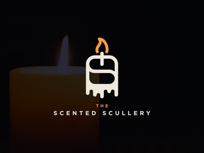 Logo Design for The Scented Scullery flat minimal icon vector branding graphicdesign design logo