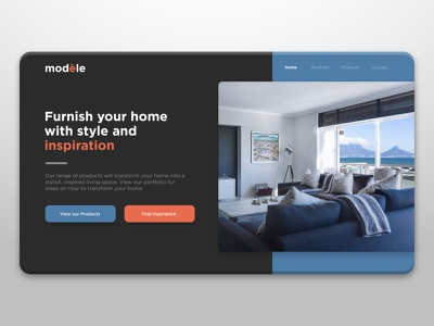 Interior Design Website UI uidesign minimal graphicdesign design ui website design website