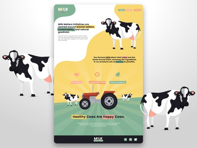 Milk Matters - Website UI vector website design design minimal graphic design uidesign flat illustration ux ui webdesign website