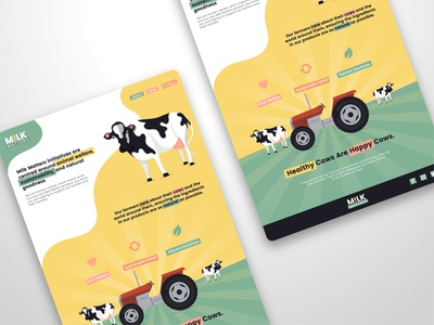 Milk Matters - Website UI graphicdesign uidesign vector graphic design illustration flat ux minimal ui concept website website design
