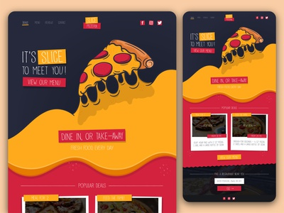 Slice Pizzeria - Website UI (full page) branding graphic design website website design uidesign vector illustration graphicdesign design ui