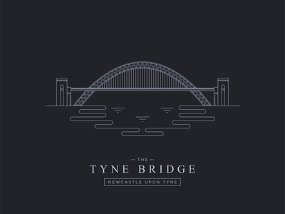 Tyne Bridge - Newcastle Upon Tyne - Illustration graphic design illustration flat minimal design