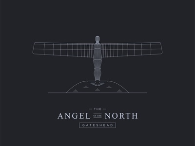 The Angel of the North - Illustration graphic design illustration vector flat minimal design