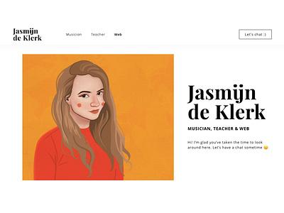 Personal website headshot illustration character illustration personal website illustration