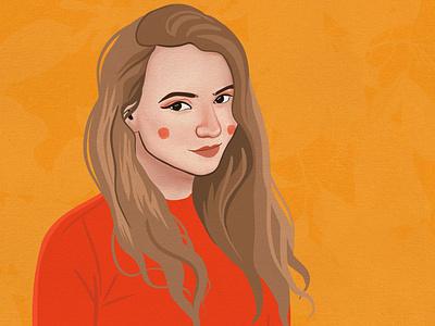 Headshot portrait illustration for personal website character illustration illustration