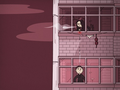 A Love Story funny drawing red love lithuanian slavic brutalist soviet illustration design