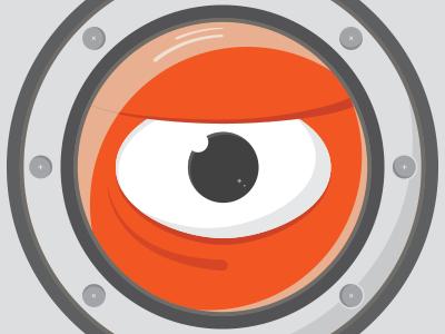 An Eye eye window screws monster boat red black gray