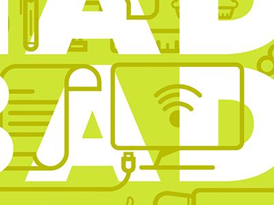 WordWork letters type icon green white