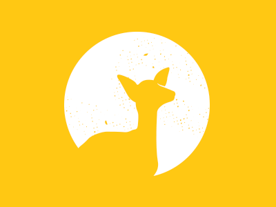 Darling Deer logo texture yellow circle deer
