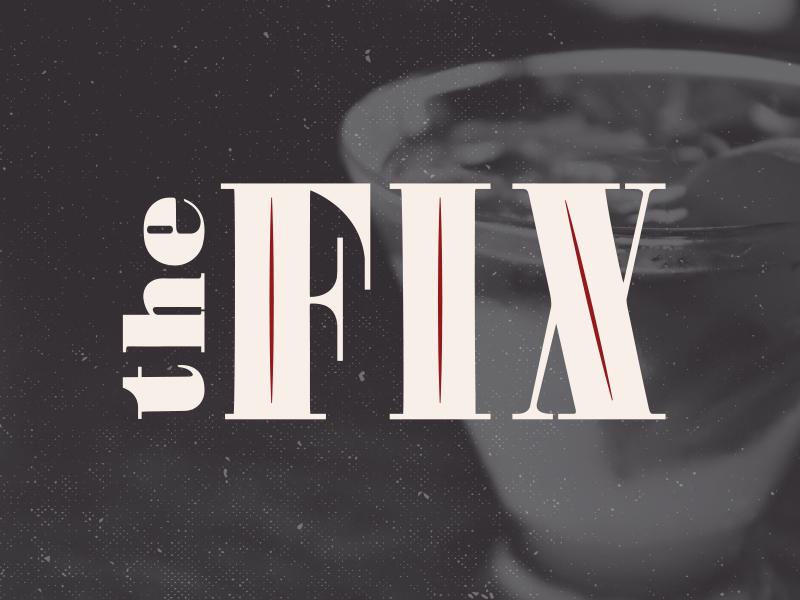 The Fix  bar identity cocktail logotype