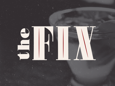 The Fix  bar identity cocktail logotype