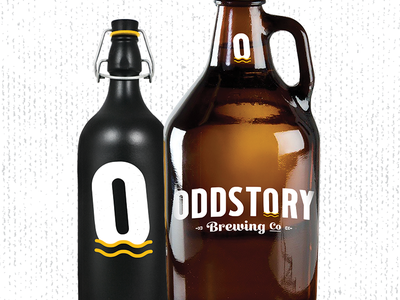 Oddstory Brewing Co. Bottle Mocks craft beer chattanooga branding beer identity growler