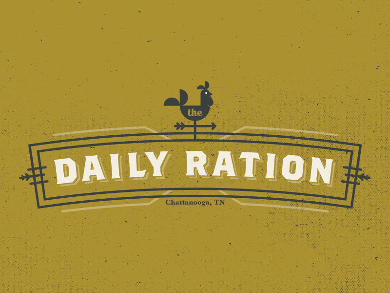 Daily Ration Logo branding rooster identity restaurant brunch breakfast logo chattanooga