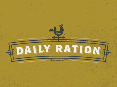 Daily Ration Logo branding rooster identity restaurant brunch breakfast logo chattanooga