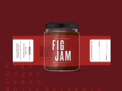 Main Street Meats - Fig Jam Label tennessee chattanooga jam fig jam label design jar label