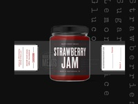 Main Street Meats - Strawberry Jam Label tennessee chattanooga jam strawberry jam jar label label design