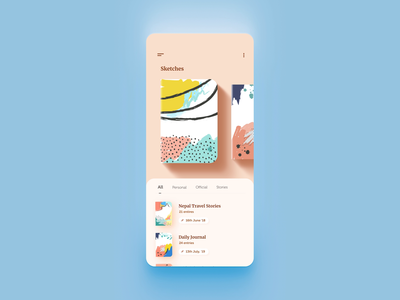 Nerdoo - Journal Keeping App cream design uidesign animation video sketch notebook writing app minimal journal note reading flat uiux ux ui mobile