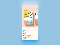 Nerdoo - Journal Keeping App cream design uidesign animation video sketch notebook writing app minimal journal note reading flat uiux ux ui mobile