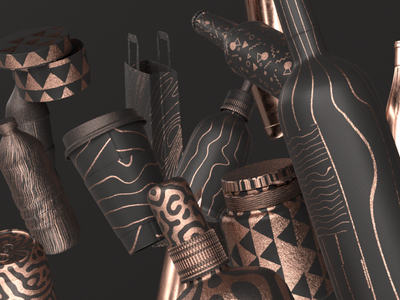Murad Studio Packaging Design illustration art package design design packagedesign 3d modeling 3d design