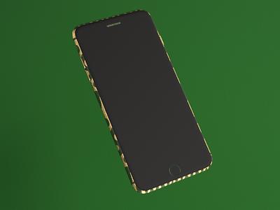 Green world Phone branding illustration art 3d modeling 3d design design